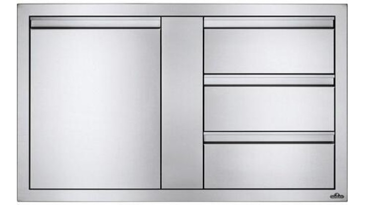 Napoleon Stainless Steel Built In Door and Drawer Combo - BI-3624-1D3DR