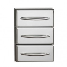 Napoleon Deluxe Stainless Steel Triple Drawer