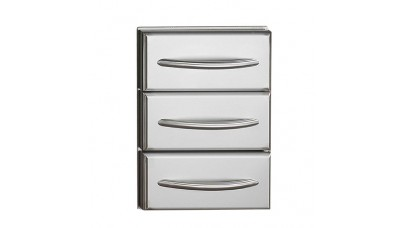 Napoleon Deluxe Stainless Steel Triple Drawer N370-0360