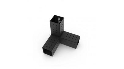 TOJA GRID - TRIO 3 Arm Pergola Corner Bracket for 4 x 4 Wood Posts 2 Pack