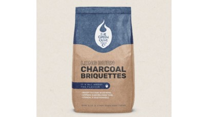 Green Olive Briquettes - Long Burn Charcoal Briquettes - 8kg