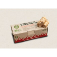 Green Olive Firelighters - Wood Wool Firelighters