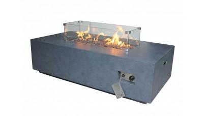 Alya Gas Fire Pit - Glass Screen