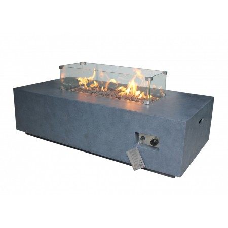 Alya Gas Fire Pit - Glass Screen