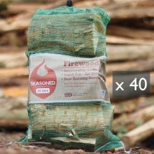 Green Olive UK Seasoned Hardwood Net Bag x 40