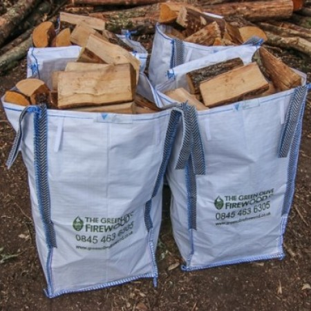 Green Olive Kiln Dried Hardwood Sack Barrow Bag x 4