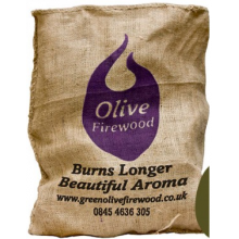 Green Olive Hessian 10kg - Olive Wood