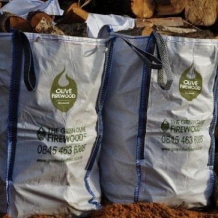Green Olive - Olive Wood Sack Barrow Bag x 4