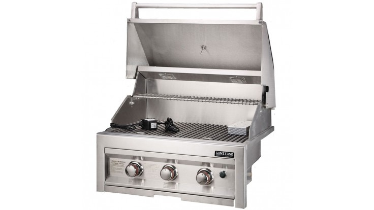 Sunstone Sun Series 3 Burner Built In Gas BBQ