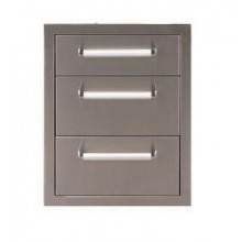 Whistler Outdoor Stainless Steel Triple Drawer