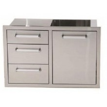 Whistler Outdoor Stainless Steel Triple Drawer & Waste Combo
