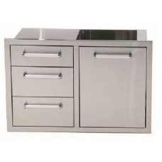 Whistler Grills Stainless Steel Triple Drawer And Waste Combo