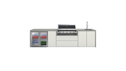 BeefEater Harmony Outdoor Kitchen with S2000 5 Burner BBQ, Double Fridge and Sink