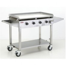 Beefeater Clubman Stainless Steel Hotplate 4 Burner Gas BBQ
