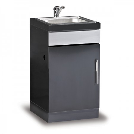 Beefeater Discovery ODK Kitchen Sink Unit Powdered Coat Black