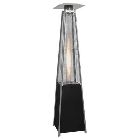 Lifestyle Tahiti Real Flame Patio Heater in Black