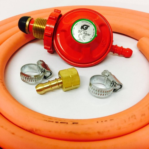 Propane Regulator With Hand Wheel Bbq Nut And Nozzle