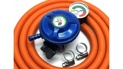 Butane 21mm Clip on Regulator with Gauge Kit